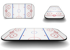 Set icehockey court Royalty Free Stock Photos