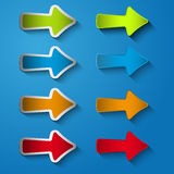 Set icon arrow right Royalty Free Stock Photography