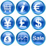 Set icon blue #04. Stock Image