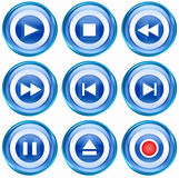 Set icon blue #08. Stock Images