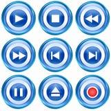 Set icon blue #08. Stock Images