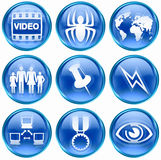 Set icon blue #09. Stock Photography