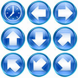 Set icon blue #11. Royalty Free Stock Photo