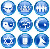 Set icon blue #14. Royalty Free Stock Photography