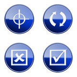 Set icon blue glossy #22. Royalty Free Stock Images