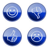 Set icon blue glossy #26. Royalty Free Stock Photo