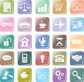 Set icon business colorfull vector. Icon set business colorfull. light soft color Stock Image