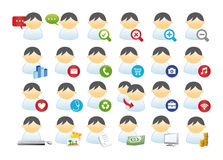 Set of icon business. A vector set of business icons Vector Illustration