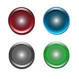 Set of icon button illustration. Set of icon circle button illustration Stock Photos