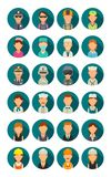 Set icon character cook, builder, business and medical people. Set icon people different professions. Character cook, builder, business, army, police, fireman Royalty Free Stock Photography