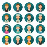 Set icon character cook, builder, business and medical people. Royalty Free Stock Photo