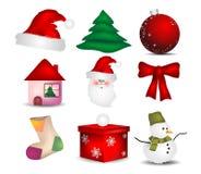Set Icon Christmas Stock Photo