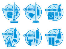 Set of icon cleaning Stock Photography