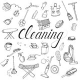 Set icon of cleaning service Stock Image