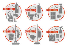 Set of icon cleaning. Royalty Free Stock Image