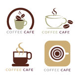 Set of icon on coffee element Stock Photo