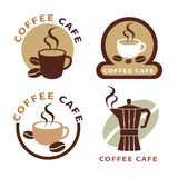 Set of icon on coffee element Stock Image