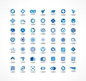 Set of icon design elements. Abstract logo ideas for business company. Finance, communication, eco, technology, science Royalty Free Stock Images