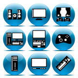 Set icon Electronics Stock Photos