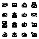 Set of icon for email and message. Simple set of mail related icons collection Royalty Free Stock Image