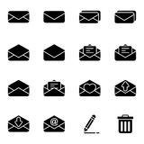 Set of icon for email and message. Simple set of mail related icons collection Royalty Free Stock Photo