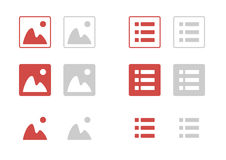 Set of  icon. Filter, image and list Stock Photo