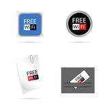 Set icon for free wi fi vector illustration Royalty Free Stock Images