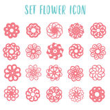 Set icon geometric flowers Royalty Free Stock Images