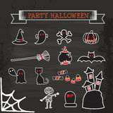 Set of icon halloween Royalty Free Stock Images