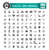 Set of 100 icon of health and medical vector illustration 001 Royalty Free Stock Photo