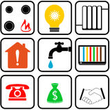 Set icon for home appliance Stock Image