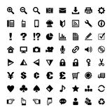 Set of icon illustrations Stock Images