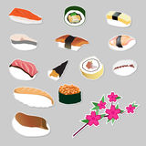 Set icon Japanese food vector Stock Photography
