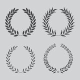 Set icon laurel wreath Royalty Free Stock Photo