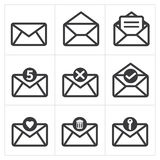 Set of icon mail. Messages icon Royalty Free Stock Photos