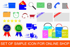 Set of Icon for Online Shop Stock Photography