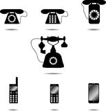 Set of icon phone Royalty Free Stock Images
