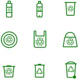 Set ecology icons stock vector of plastic products stock illustration