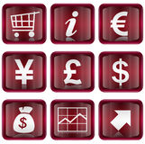 Set Icon Red 04. Stock Images
