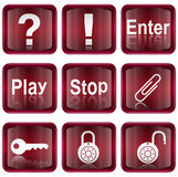Set icon red #05 royalty free stock image