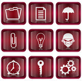 Set icon red #06 Stock Image