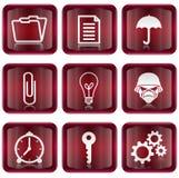 Set icon red #06 Stock Image