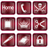 Set icon red #07 royalty free stock photos