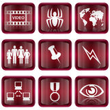 Set icon red #09 royalty free stock image