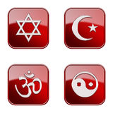 Set icon red glossy #27. stock images