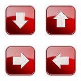 Set icon red glossy #21. royalty free stock image