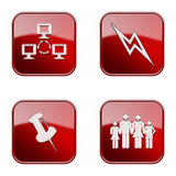 Set icon red glossy #17. royalty free stock image