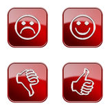 Set icon red glossy #26. royalty free stock photo