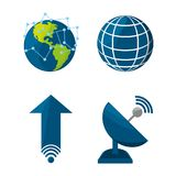 Set icon related with internet vector illustration