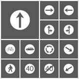 Set icon of road signs Stock Photos